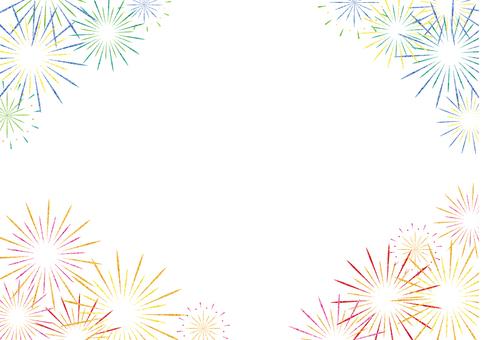 Fireworks frame (white)