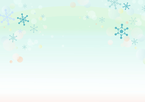 Snowflake winter scenery background
