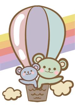 Animals on a balloon