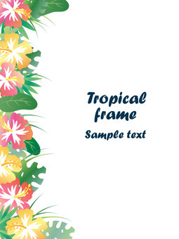 Tropical frame 2