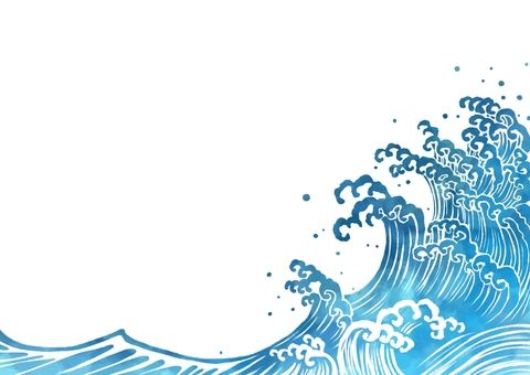 Wave illustration horizontal frame