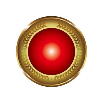 Round solid gorgeous icon button