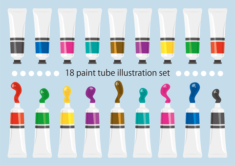 Illustration set of paint
