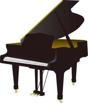 グランドピアノイラスト
