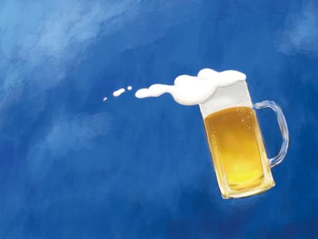 Blue sky beer mug
