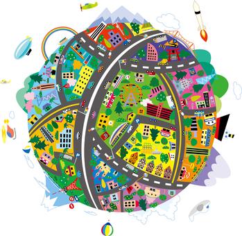 다채로운 지구 거리