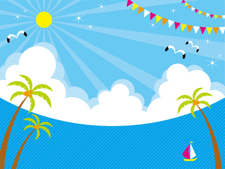 Pop summer sea background (horizontal composition