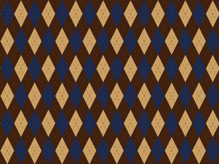 Large Argyle check brown Blue