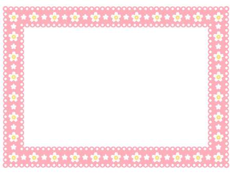 Cherry blossom pattern lace frame 3