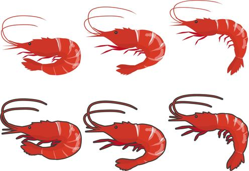 With shrimp margin