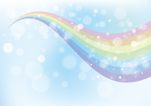 Rainbow and sky background material 01