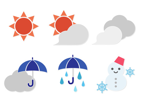 Illustration of cute and simple weather