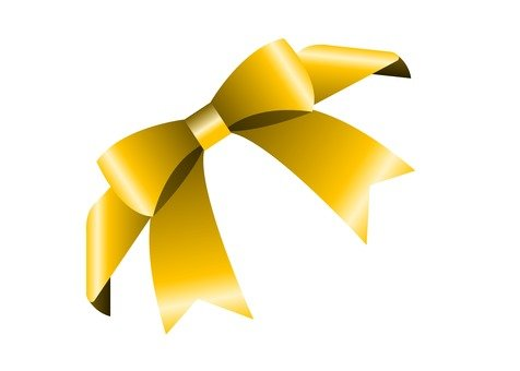 Simple ribbon diagonal (yellow)