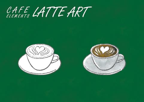 라떼 아트 : 카페