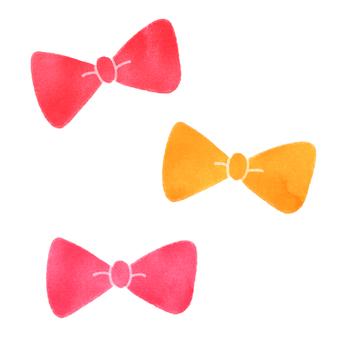 Three ribbons (warm colors)