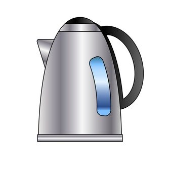 Electric kettle (silver)