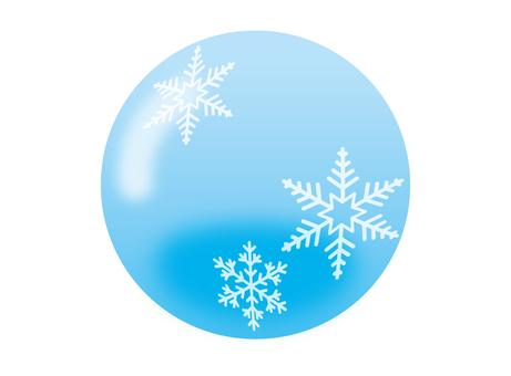 Snow crystal spherical ornaments