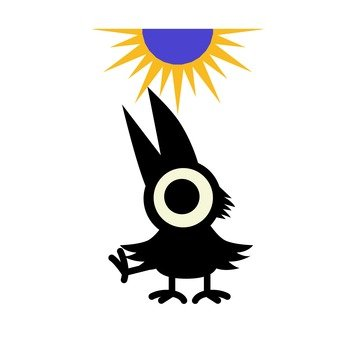 The sun and the eight crows