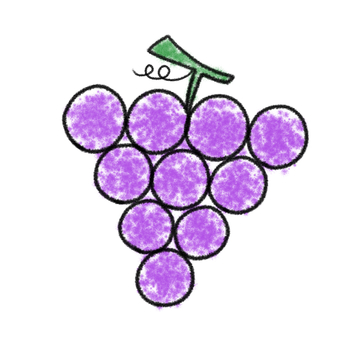 Grape Crayon bright bright purple