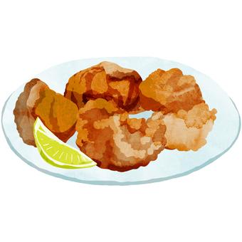 Deep-fried (dish) ② Watercolor