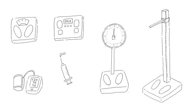 Health Equipment B & W 01