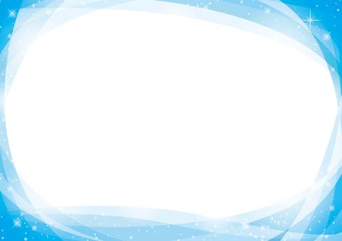 Curved blue frame
