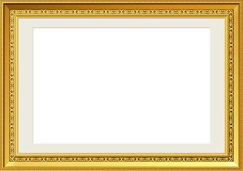 Frame gold mat