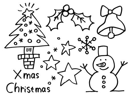 Christmas hand-painted illustration