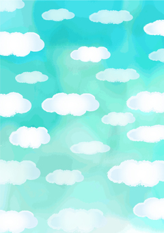 Water color Handwriting style Sky and clouds Portrait orientation