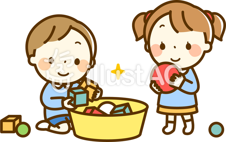 おもちゃを片付ける女の子と男の子イラスト No 864005無料イラスト