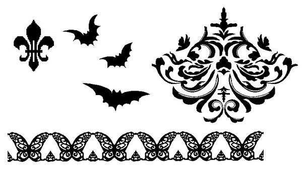 Gothic material set (black)