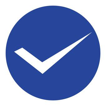 Check mark (blue)
