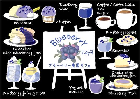 Blueberry Cafe Menu Stand