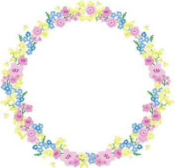 Flower wreath frame (spring flower)