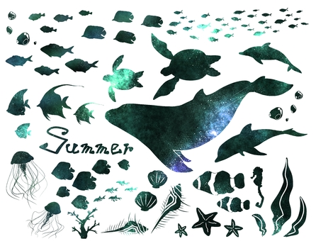 Summer sea (light blue)