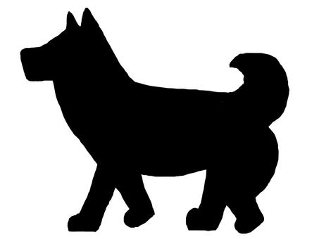 狗剪影黑色