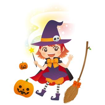 Witch pumpkin magic