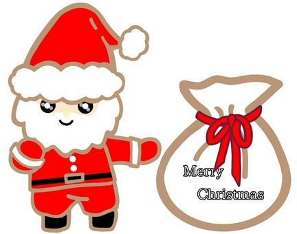 Santa claus gift christmas