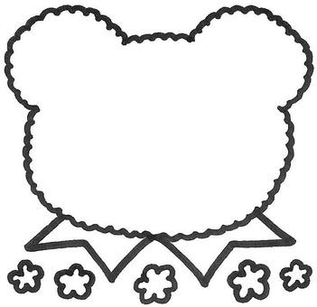 Kumamon Ribbon Set with Fluffy