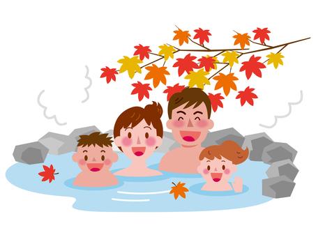 Autumn open-air bath -3