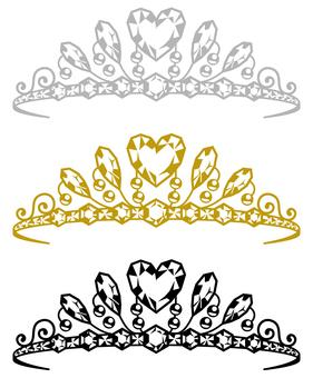 Tiara (Heart Diamond 3 Colors)
