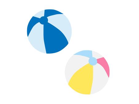 Two beach balls