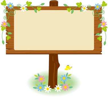 Wooden signs _ flower decoration