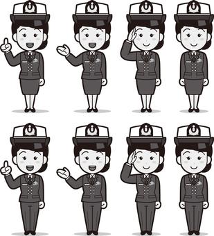 SDF 2 (Women / Maritime Self-Defense Force) B & W