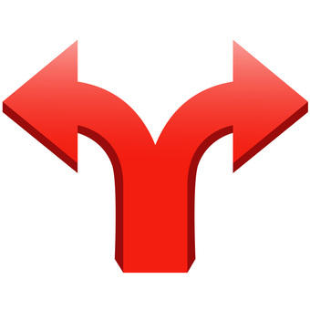 3D arrow (two directions, red)