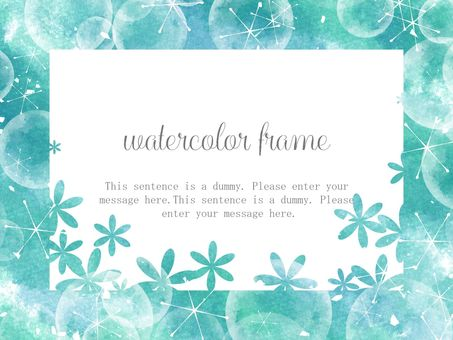 Watercolor style frame 03 / green