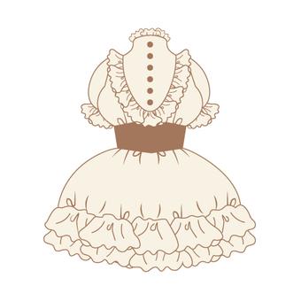 Frill dress (Maid style)