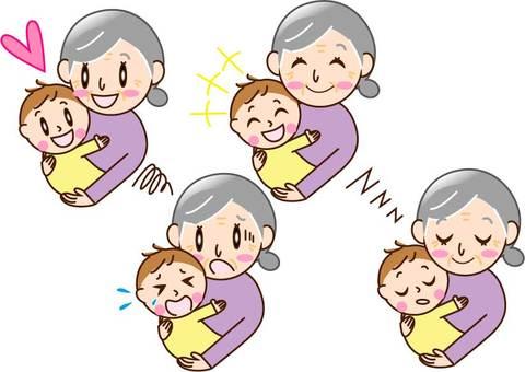 Grandmother 4 pattern to hug baby