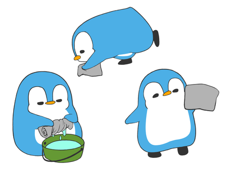 Clean with a penguin
