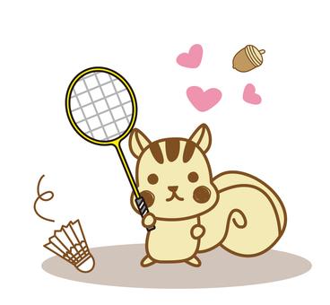 Badminton_ Risu